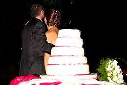 buffet con gli sposi